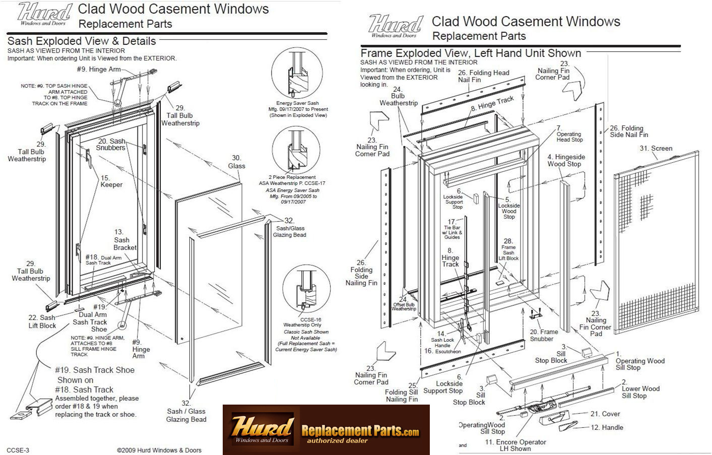 Window Replacement Parts